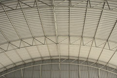 Metal curve roof. Background and protect Royalty Free Stock Image