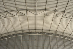 Metal curve roof. Background and protect Royalty Free Stock Images