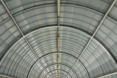 Metal curve roof structure. Background Stock Photo