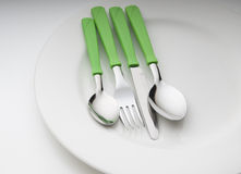 Metal cutlery Royalty Free Stock Image