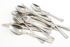 Metal cutlery Royalty Free Stock Images
