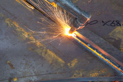 Metal cutting Stock Photography
