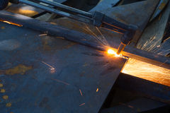 Metal cutting Stock Photo