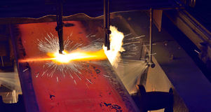 Metal cutting Stock Image
