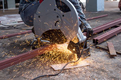 Metal cutting Royalty Free Stock Images