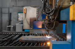Metal cutting Royalty Free Stock Photography