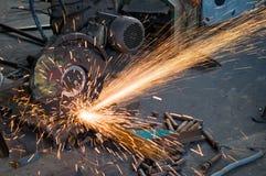 Metal cutting machine Royalty Free Stock Photo