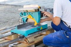 Metal cutting machine Royalty Free Stock Photos