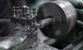 Metal cutting machine. Industrial background Stock Images