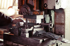 Metal cutting machinery Royalty Free Stock Photos