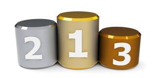 Metal cylinder podium  2 Royalty Free Stock Photography