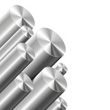 Metal cylinders on white Stock Photo