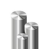 Metal cylinders on white Stock Photography