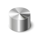 Metal cylinders on white Stock Photos