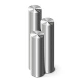 Metal cylinders on white Royalty Free Stock Photography