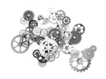 Metal 3d gear Royalty Free Stock Photography