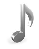 Metal3D music note sign Royalty Free Stock Photos