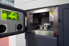 Metal 3D printers (DMLS) Royalty Free Stock Photos