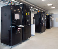 Metal 3D printers (EBM). Electron beam additive manufacturing is a type of additive manufacturing, or 3D printing, for metal parts. Metal powder or wire is Stock Image