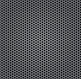Metal da grade da textura do cromo isolado Fotografia de Stock