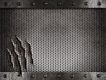 Metal damaged grate background Stock Image