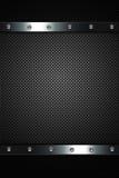 Metal dark background Royalty Free Stock Photos