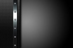 Metal dark background Stock Images