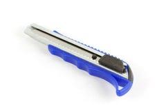Metal de acero del cuchillo del cortador azul Fotos de archivo libres de regalías