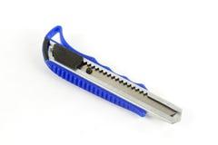 Metal de acero del cuchillo del cortador azul Imágenes de archivo libres de regalías