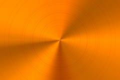 Metal de bronce pulido redondo brillante brillante Imagenes de archivo
