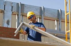 Metal de dobra do trabalhador Imagem de Stock Royalty Free