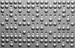 Metal de folha com pontos e poços Imagens de Stock Royalty Free