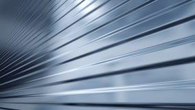 Metal de folha ondulado, luz refletindo Imagem de Stock Royalty Free