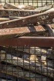 Metal de folha quebrado e oxidado Fotos de Stock Royalty Free