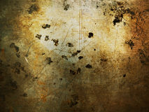 Metal de folha velho com oxidação Fotos de Stock Royalty Free