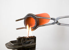 Metal de fusión Fotografía de archivo libre de regalías