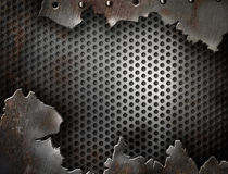 Metal de Grunge quebrado con el modelo de los remaches Imagen de archivo libre de regalías