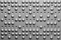 Metal de hoja con los puntos y los huecos Imágenes de archivo libres de regalías