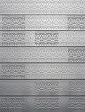Metal de hoja con los puntos y los huecos Fotos de archivo libres de regalías