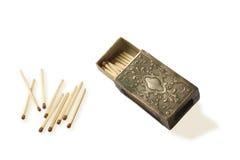 Metal de la caja de fósforos imagen de archivo