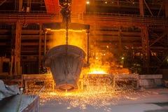 Metal de la fundición Foto de archivo libre de regalías