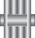 Metal de la textura Fotografía de archivo libre de regalías