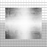 Metal de plata en los azulejos Imagenes de archivo