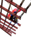 Metal de soldadura do trabalhador Imagem de Stock