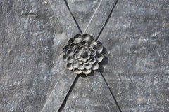 Metal decorating in the shape of a flower. Stock Image