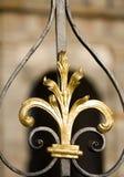 Metal decoration detail. Decoration detail of golden plated metal Matthias gate on Prague castle Royalty Free Stock Photo
