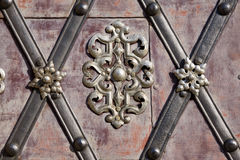 Metal decoration detail stock photo