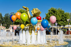 Metal decorative balloons in amusement park Royalty Free Stock Images