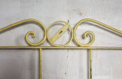 Metal Decorative Bed Frame. Abstract composition of a decorative bed frame Stock Photography