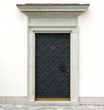 Metal decorative doors stock photo